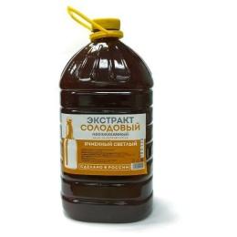 """Жидкий неохмеленный солодовый экстракт """"Кукуруза и ячмень"""",3,9 кг"""