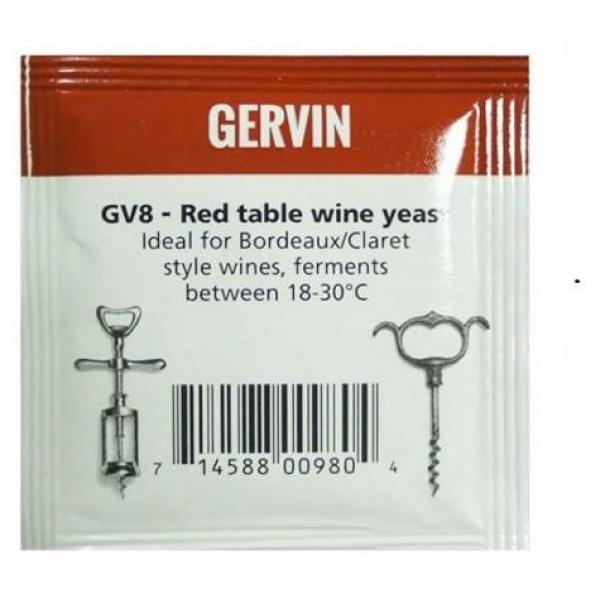 Винные дрожжи Gervin GV8 Red Table Wine