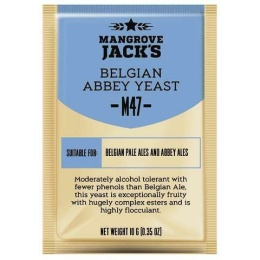 Дрожжи Mangrove Jacks Belgian Abbey M47, 10 гр